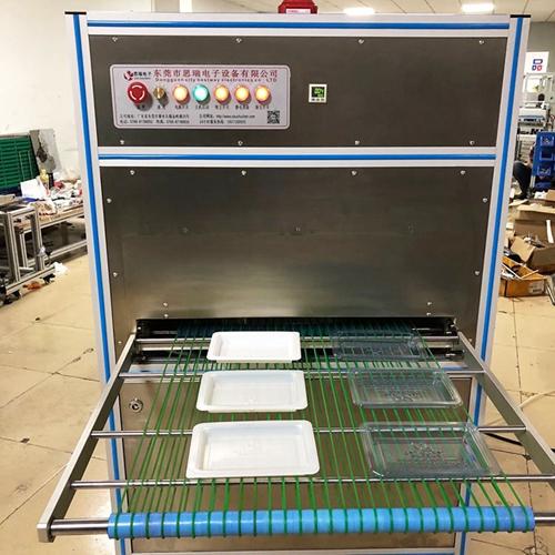 吸塑托盘静电除尘设备测试现场